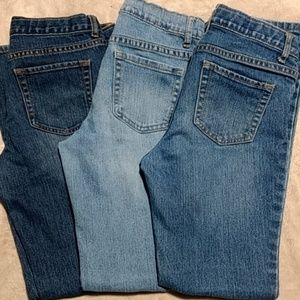 Lot of 3 girl's jeans